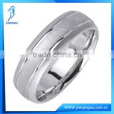 New Design Sterling Silver Brushed Row Mens Ring
