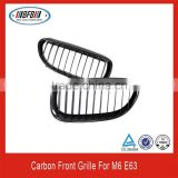 High quality carbon fiber car front grille for bmw m6 e63