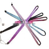 Fashion Neck Rhinestone Lanyard with Keyring for iphone, Camera, USB, MP3,,ID Card & Keychain