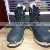 industrial cheap workman's spring and winter artifcial fur goodyear welted steel toe rubber outsole anti-slip safety shoes/boots