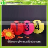 DDB-0048 Trade Assurance Shenzhen Factory Wholesale SGS Test Color Acrylic Number Plates