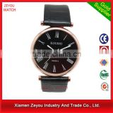 R0757 China Watch Factory Newest Design depth meter watch , Leather Band depth meter watch