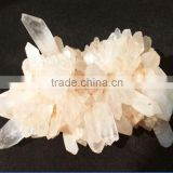 beautiful nature beige pyramid end prism crystal cluster