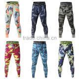 Wholesale Running camo Base Layer fitness jogging Trousers compression tights long pants sport training leggings mens gym wear
