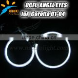 2014 New Product with Top Quality 12V 8000K CCFL Angel Eyes for Corolla 01-04 CCFL halo rings