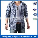 Professional customize bright color long sleeve flannel shirt men