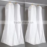 Wedding Dress Dust Cover, White Non-woven Fabric Bags for Weeding, Formal Dress Dust Cover