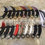 Real CSGO outdoor camping hunting climbing karambit survial knife with ABS handle