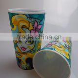 Custom Logo Lenticular Printed PP Plastic 3D Drinking Cup for Kids 500ML