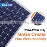 Moge the poly 250w 255w 260w 265w 270w 275wcheap solar panel for home electricity for India market