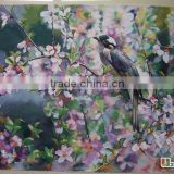 Modern painting bird watercolor paint for modern bedroom decoration