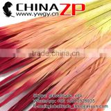 ZPDECOR Bulk Sale High Reputation Wonderful Dyed Fiery Red Ombre Ringneck Pheasant Tail Feathers for Sale