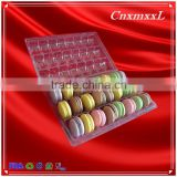 INQUIRY about 24 cells macaron box with insert gift tray cheap clamshell packaging plastic cosmetic box