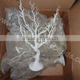 plastic wholesale factory price acrylic beaded garland tree with bendable white branch table centerpiece