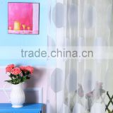 burnout modern design window curtains with printing Ready made burnout fabric living room Curtains