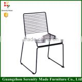 Guangzhou new model metal wire mesh patio chair outdoor
