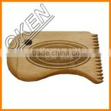 Ocean surf bamboo sharp wax comb in free logo to USA