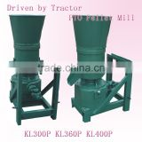 KL400P Tractor power output used wheat straw, corn stalk pellet machinery,PTO feed pellet mill