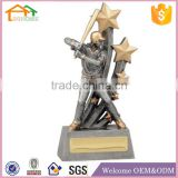 Factory Custom made best home decoration trophy polyresin resin baseball statues