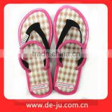 Pink Strap Made In China Rope Flip Flops Sandals