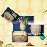 Rattan hanging wall flower basket