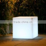 Rechargeable Colorful LED outdoor cube seat