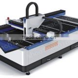 Professional Advertisement Fiber Laser Cutting Machine SHLF-1325L With Laser wavelength 1060nm and Rated power output 300W