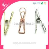 rose golden silver color metal longtail folder wire clips binder clips for practical stationery supplies gift sets