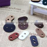 Hole cord lock stoppers garment accessories leather cord stoppers