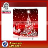 Christmas tree style polyester waterproof fabric shower curtains