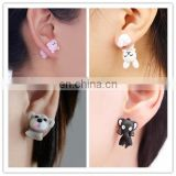 Polymer Clay 3D Animals Earrings Studs Handmade Gift Idea for Her Birthday Girl Small Gifts
