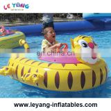 Waterpark kids inflatable motorized water toy battery animal Tiger Bumper Boat