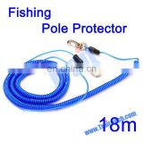 High Quality 18M Extendable Elastic Fishing Missed Rope Fish Pole Protector Rope with steel Fishing Tackle