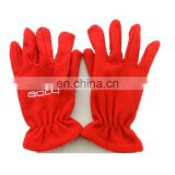 custom unisex high quality red embroidery fleece gloves