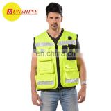 Reflective hot sell workwear Safety fashion vest