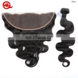 Hot Selling Lace Frontal Natural Color Hairline Free Part Breathable 13*4 Lace Frontal Closure With Baby Hair