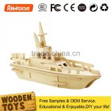 Assembly Model Ship Wooden Toy Kid Gift Set