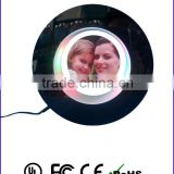 Plastic round photo frame , special gift gadget for friend or business