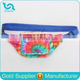 Fashion Tye Dye Polyester Belt Bag Adjustable Long Belt Bag Waist Belt Bag