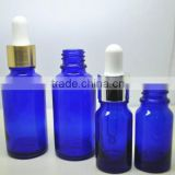 wholesale 5ml to 100ml colbat blue glass bottle with alu dropper,essential oil glass dropper bottle