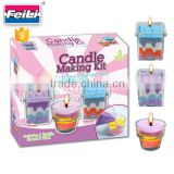 2016 hot sale candle making kit with 3 glass cup creative art craft toy for kids