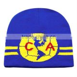 Selling High quality sport beanie hat stretched knit beanie hat thick promotional football fans hat