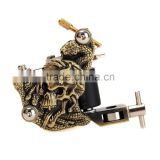 In Stock Skull Casting High Stability Bronze Tattoo Designs Removal Machine 10 Warps Coils 7000-9000 R/Minute