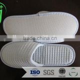 washable velour fleece closed toe hotel slipper with anti slip dots sole /washable slippers