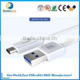 Fashion Design Type-c USB 3.0 cable data cable for MacBook, Nokia N1 Tablet and other Type-C Devices