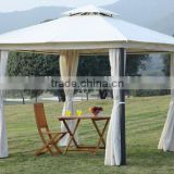 High quality patio beach commercial waterproof family camping wrought iron gazebo                                                                         Quality Choice