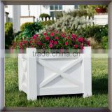 Wholesale outdoor wooden tall flower planters and pots garden products