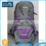 New design factory price wholesale polyestor outdoor OEM travel bags 8252b 55L refresh hiking backpack with great price