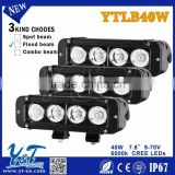 7.8'' inch 40W Single Row LED Light Bar 14000LM IP67 for Offroad Lorry Truck Boat Trailer SUV Work Light Bar