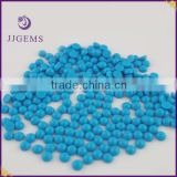 5mm round cabochon glass blue turquoise stone
